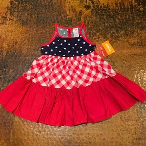 NWT Gymboree Tiered Dress - American Cutie - 2T